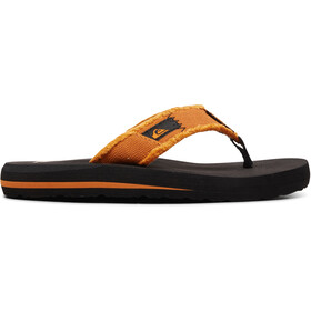 Quiksilver Monkey Abyss Sandals Youth, negro/naranja